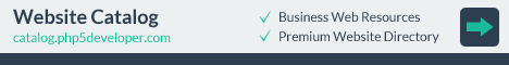 Website Catalog: PHP5 Developer